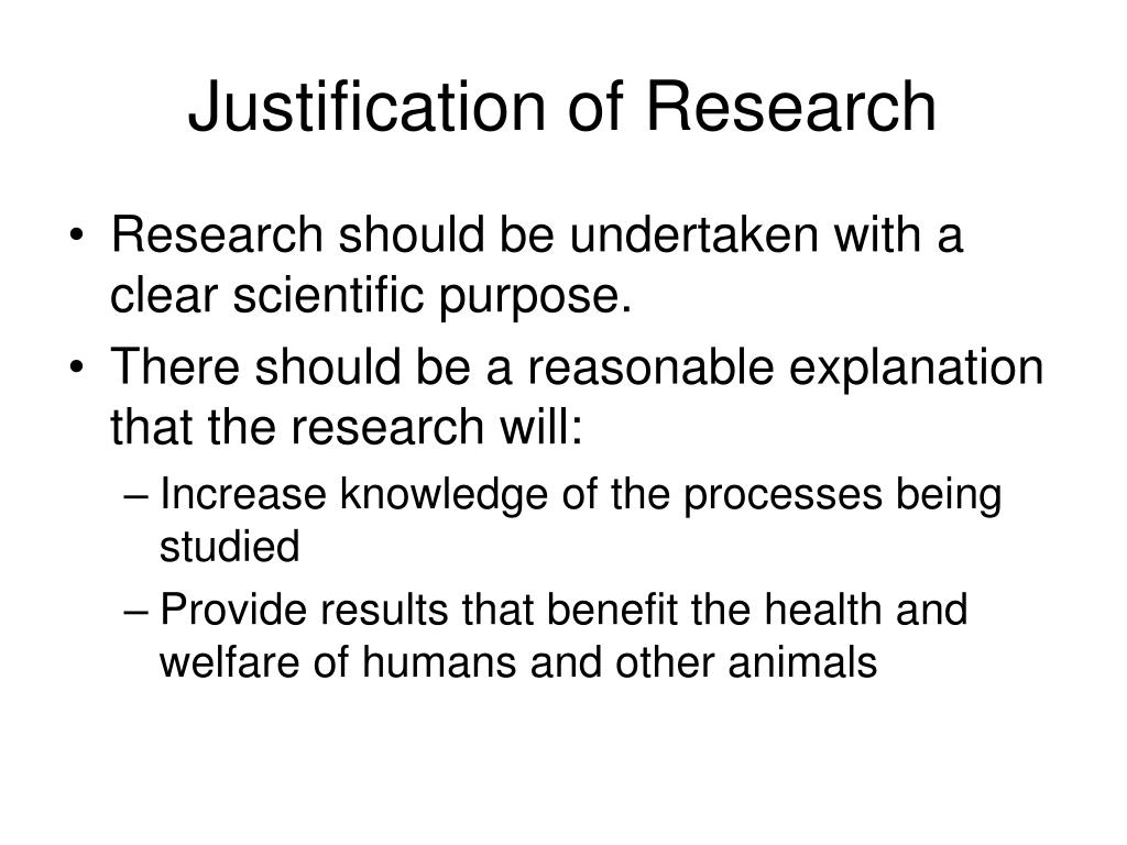 Justification of Research