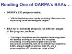 reading one of darpa s baas