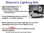 shannon s lightning bolt