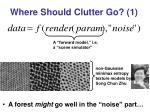 where should clutter go 1
