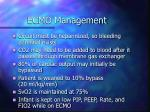 ecmo management