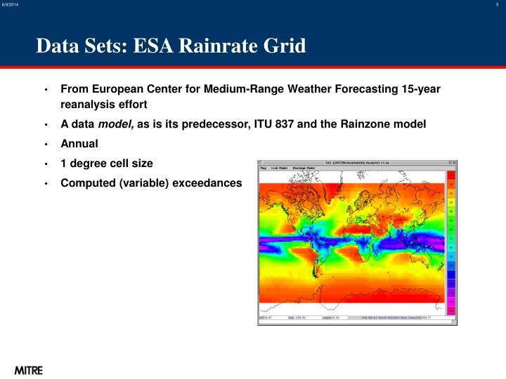 Data Sets: ESA Rainrate Grid