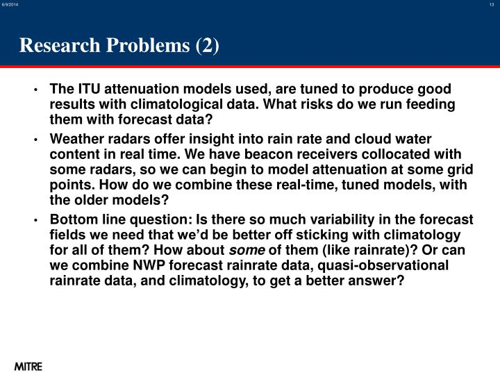 Research Problems (2)