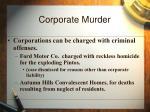 corporate murder