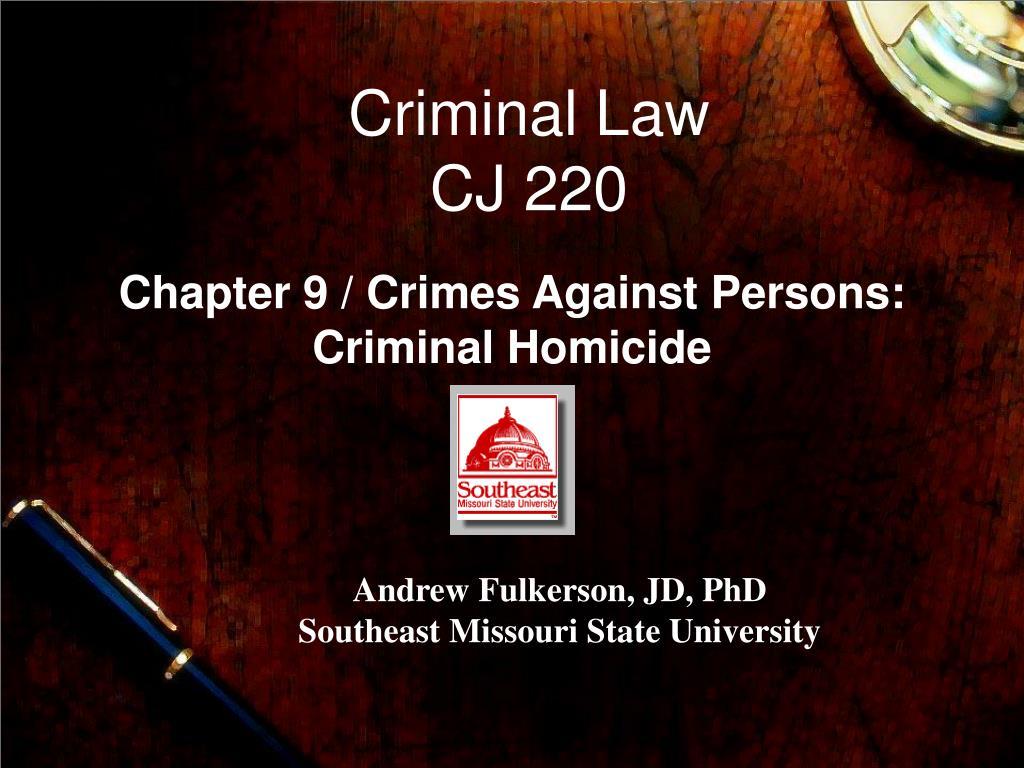 criminal law cj 220 l.