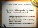 elements of criminal homicide