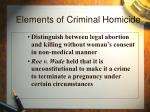 elements of criminal homicide13