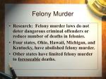 felony murder37
