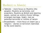 muslim s vs islam ic