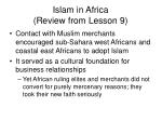 islam in africa review from lesson 9
