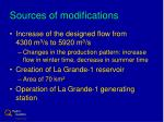 sources of modifications