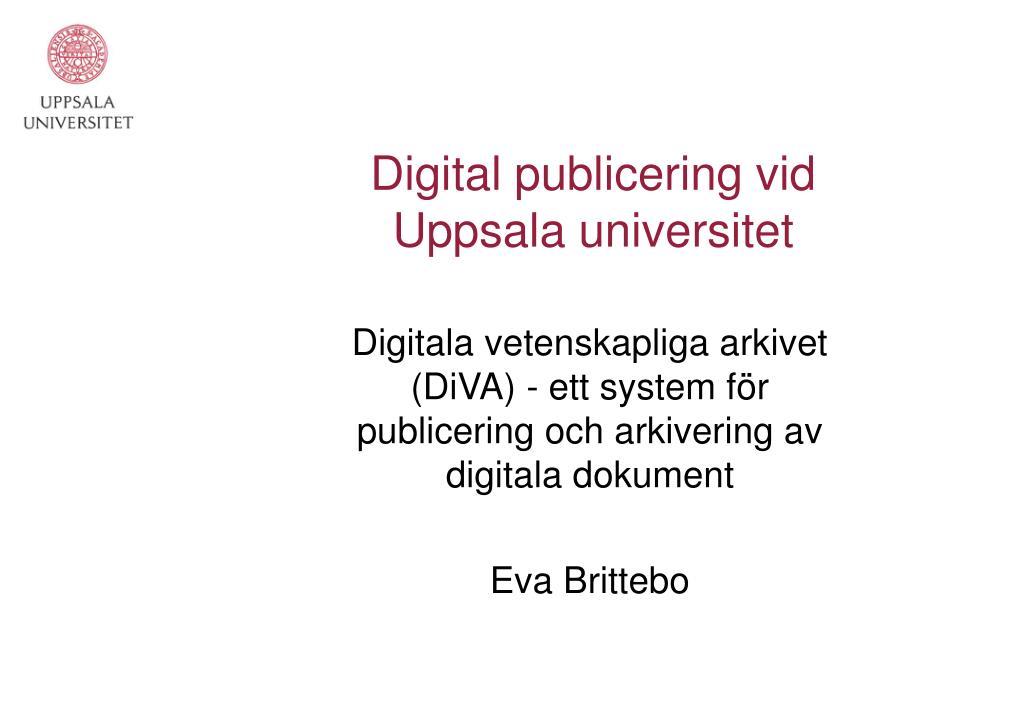 Digital publicering vid