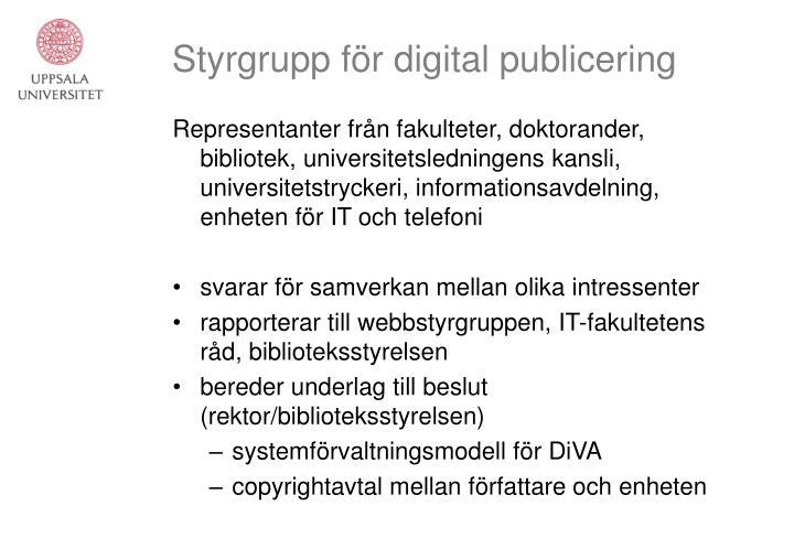 Styrgrupp f r digital publicering