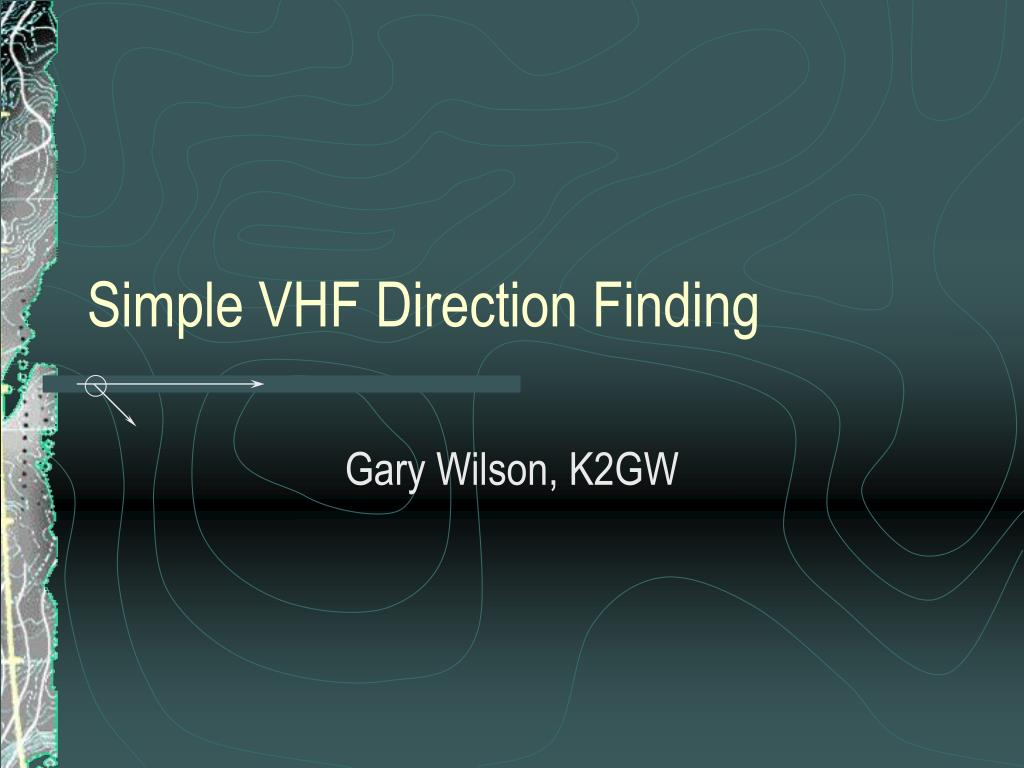 simple vhf direction finding l.
