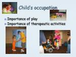 child s occupation