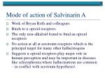 mode of action of salvinarin a