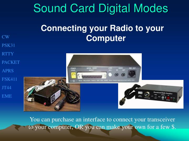 Sound Card Digital Modes