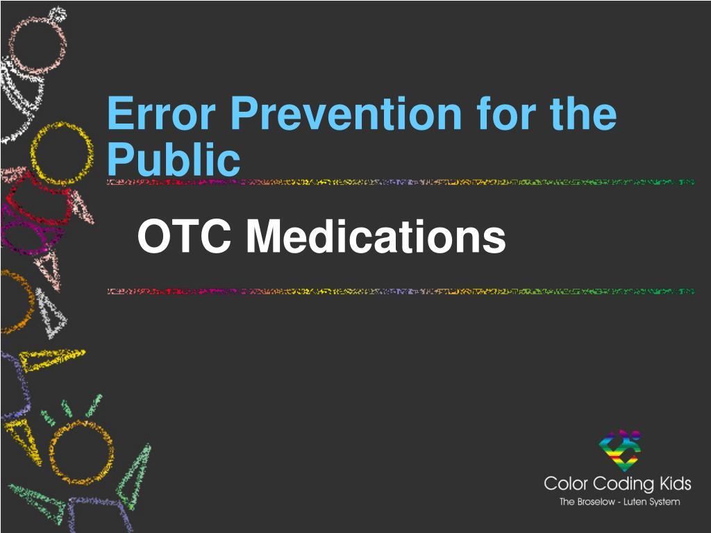 Error Prevention for the Public