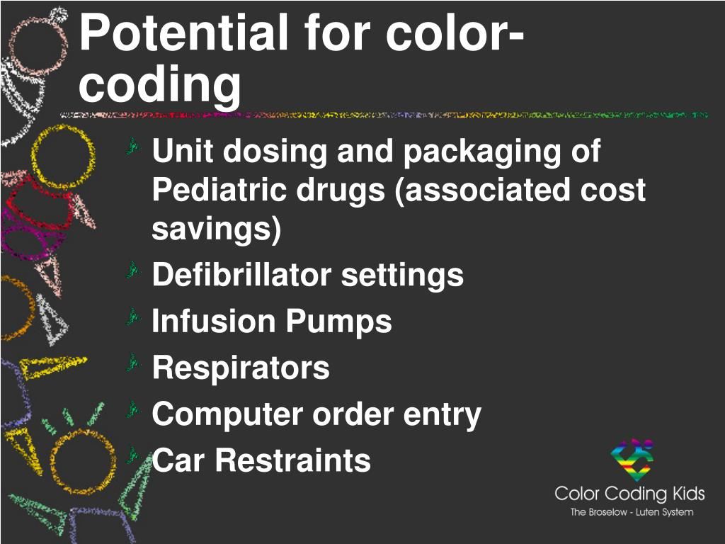 Potential for color-coding