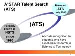 a star talent search ats