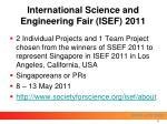 international science and engineering fair isef 2011