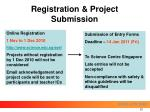 registration project submission