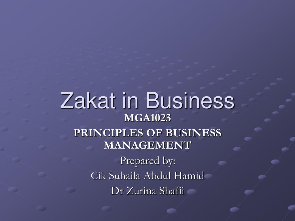 zakat in business l.