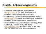 grateful acknowledgements