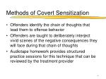 methods of covert sensitization