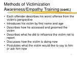 methods of victimization awareness empathy training cont