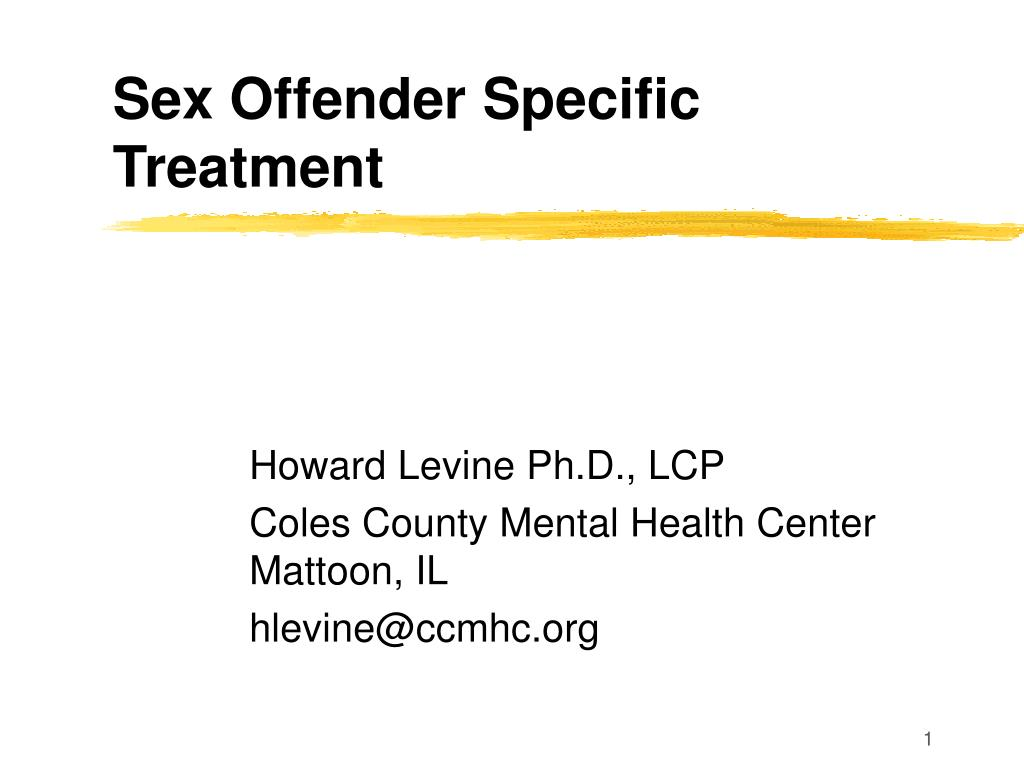 sex offender specific treatment l.
