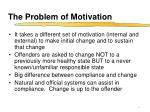 the problem of motivation