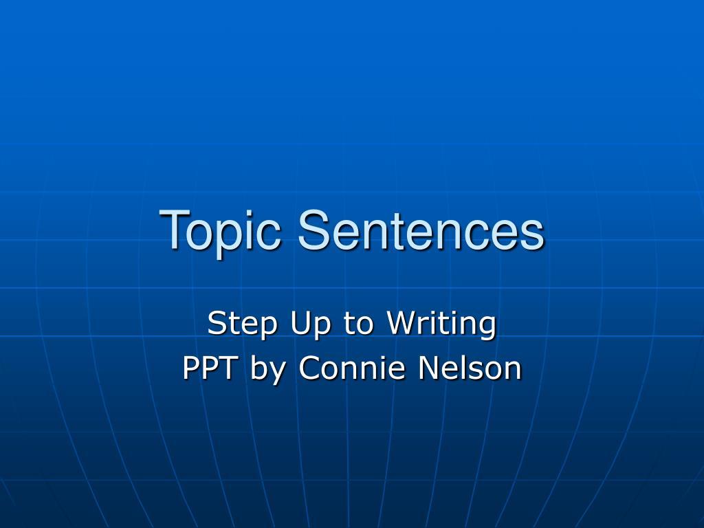 topic sentences l.