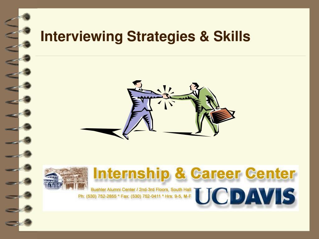 Interviewing Strategies & Skills