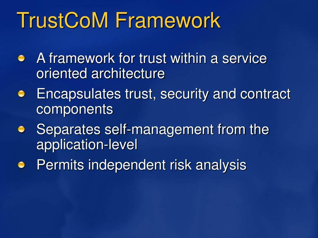 TrustCoM Framework