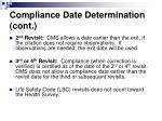 compliance date determination cont22