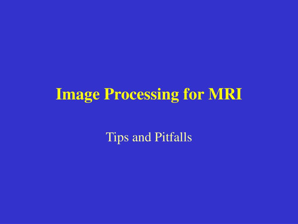 image processing for mri l.