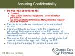 assuring confidentiality1