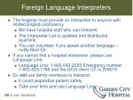 foreign language interpreters