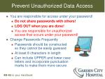 prevent unauthorized data access