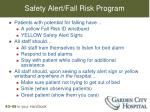 safety alert fall risk program