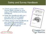 safety and survey handbook
