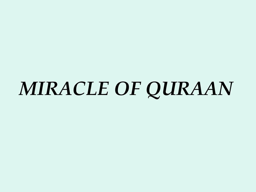 miracle of quraan l.