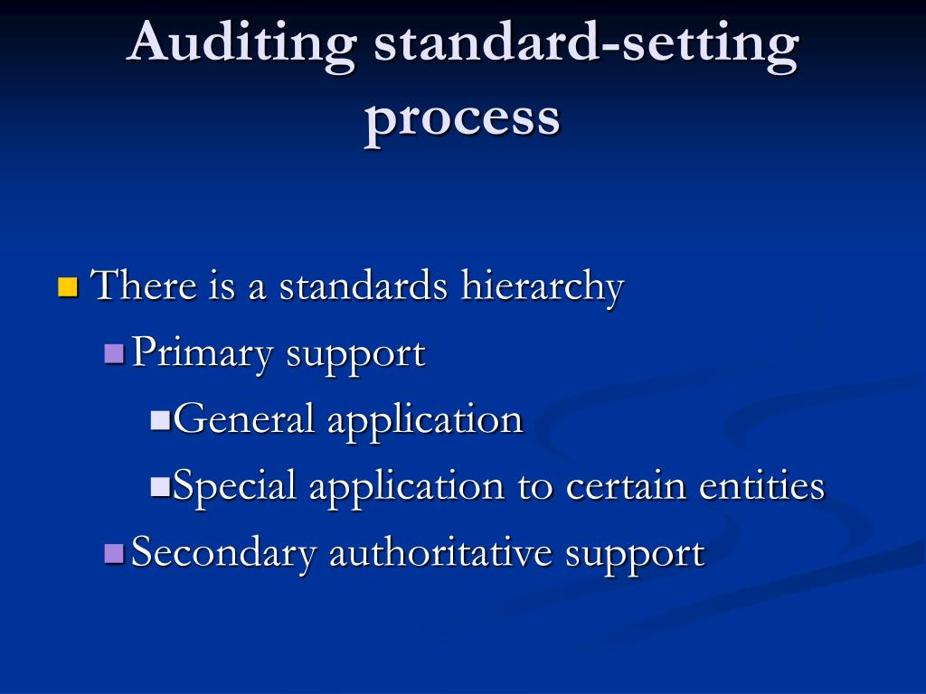Auditing standard-setting process