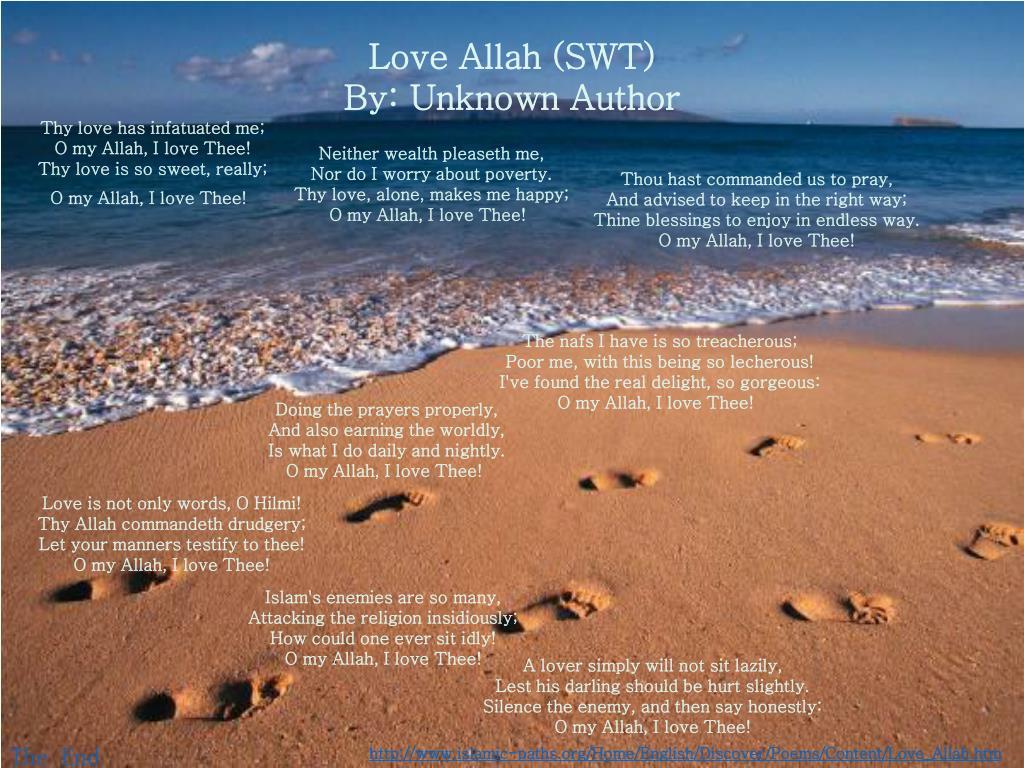 Love Allah (SWT)