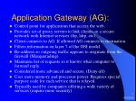 application gateway ag