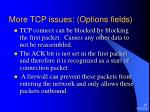 more tcp issues options fields