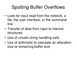 spotting buffer overflows