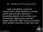 a3 malicious file execution