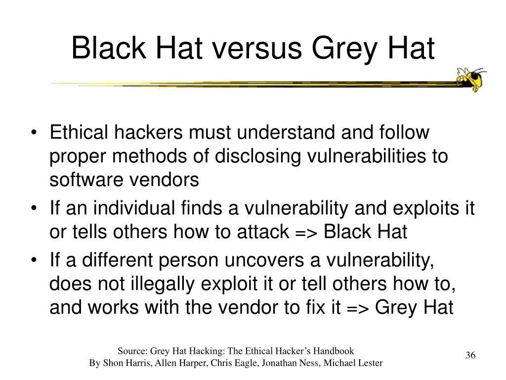Black Hat versus Grey Hat